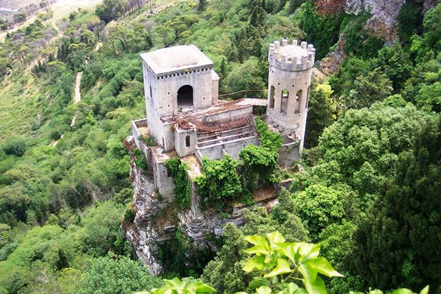 Cidade de Erice na Sicilia