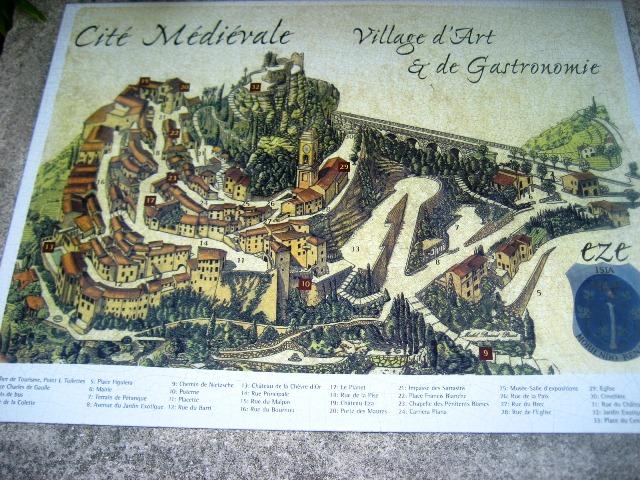 Mapa de Eze