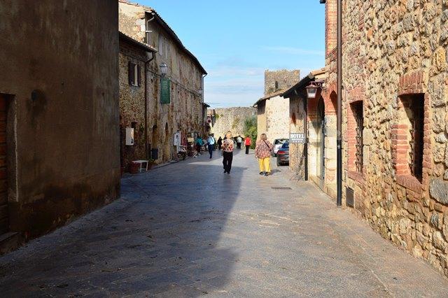 vila medieval na Toscana