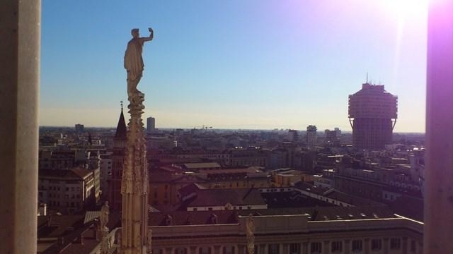 Panorama da cidade de Milão
