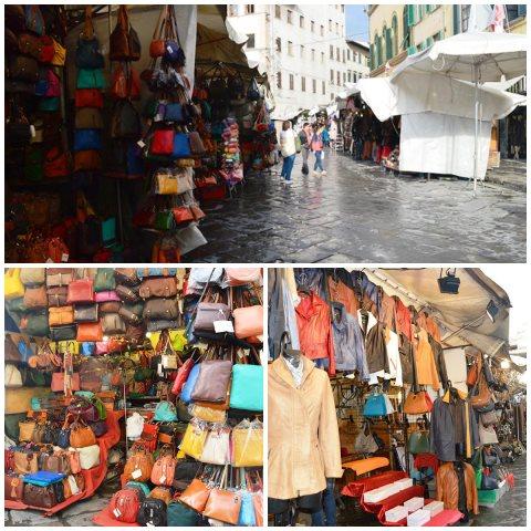 Mercado no centro de Florença