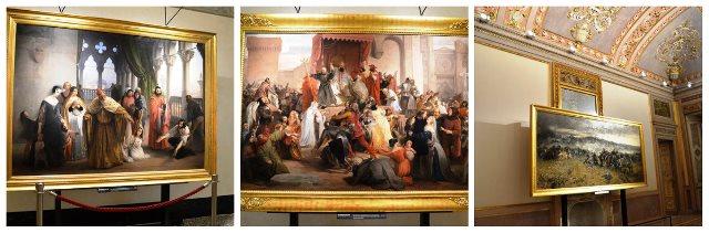 Quadros em museu dem Milão