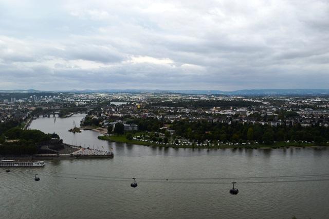 Encontro entre os rios em Koblenz
