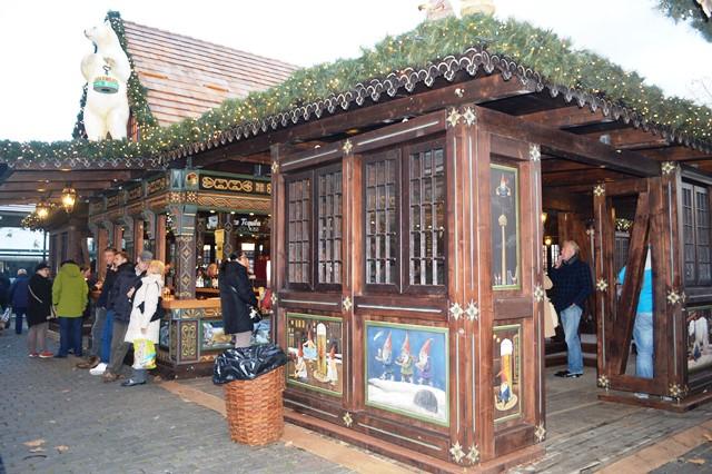 Casinha típica dos mercados de natal na Alemanha