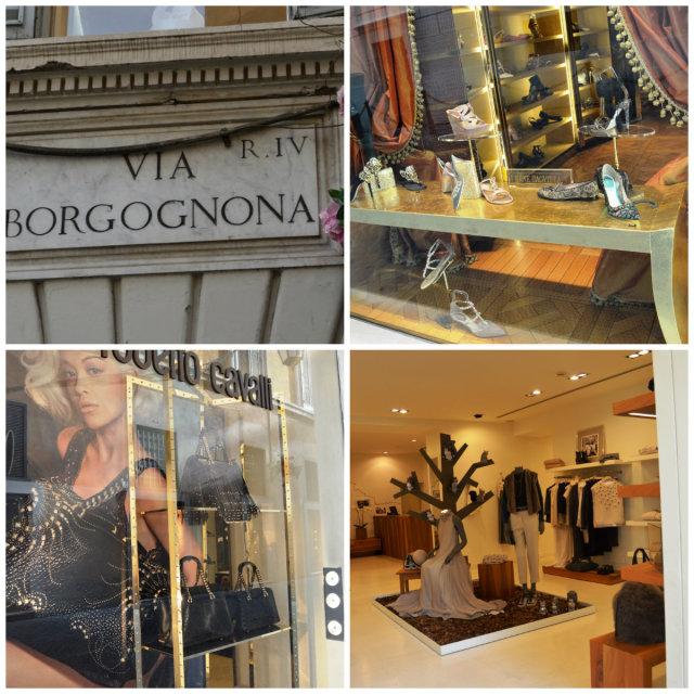 Ruas de compras em Roma