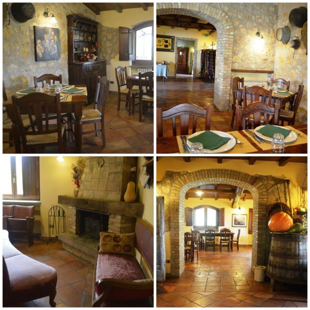 Restaurante na Rota do vinho na Itália