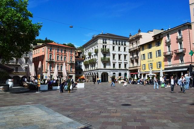 Piazza Riforma em Lugano