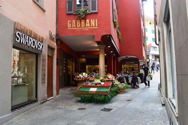 Ruas de Lugano na Suiça