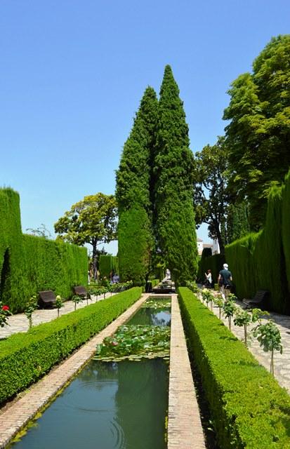 Jardim Generalife em Alhambra