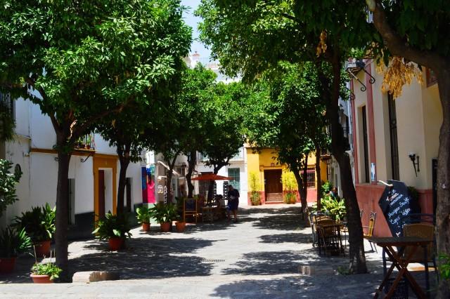 Bairro de Santa Cruz em Sevilha