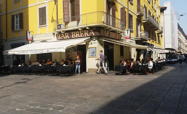 Bar Brera em Milão